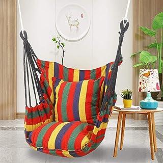 Kathrin Hamaca Silla, Columpio de cuerda colgante de 130 x 39.4in, silla colgante para Unisex adulto Multicolor