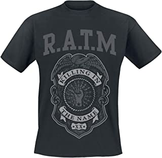 Unbekannt Offizielles Rage Against The Machine Police Badge T Shirt Grau