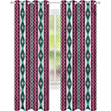 Cortina de ventana azteca vertical zigzag Chevron líneas W42 x...