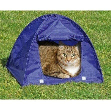 Karlie 60866 Kitty Camp-Ein Zelt für die Katze, Farblich sortiert, 43,5 x 43,5 x 36 cm