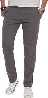 A. Salvarini AS016 Men's Designer Fabric Chino Trousers, Regular Fit