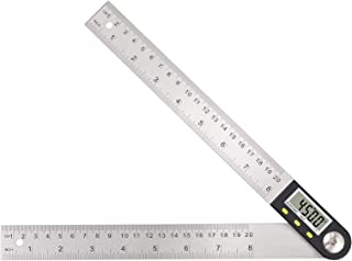 Neoteck Digital Angle Finder Protractor, 8 inch/200mm Stainless Steel Angle Finder Ruler with Data Hold Function and Zeroing Resetting, for Woodworking, Construction, Repairing