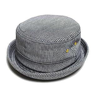 (ルーベン) 【RUBEN】 DENIM PORK PIE HAT 大きいサイズも選べる デニム ポークパイハット FREE/ヒッコリー