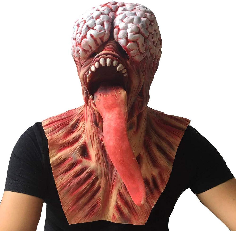 Zicue Humorvolle Maske Maskerade Prom Maske Halloween-Horror-Maske Spukhaus Geheimraum Scary Whole Faules Biogefhrdung