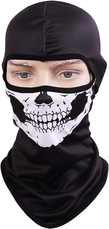 Motorcycle Helmets Liner Ski Gear Neck Gaiter 19 Skull-Mask Animal Print Series Quick-Dry Mask Kingree Balaclava Ski Mask