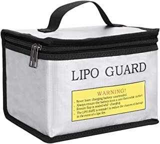 Youdepot Fireproof Explosionproof Lipo Safe Bag for Lipo Battery Storage and Charging, Large Space Highly Sturdy Double Zi...