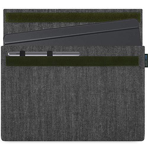 Adore June 10,5 Zoll Business Grau/Schwarz Tasche kompatibel mit Samsung Galaxy Tab S6 mit Samsung S-Pen Halterung