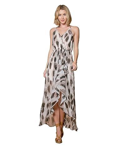 LAVENDER BROWN Animal Print Sleeveless Maxi Dress