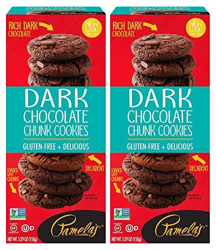 Pamela's Dark Chocolate Chunk Traditional Cookies, 5.29 OZ, Pack of 2