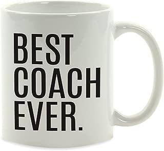 Andaz Press 11oz. Coffee Mug Birthday Gift, Best Coach Ever, 1-Pack, Christmas Present Ideas