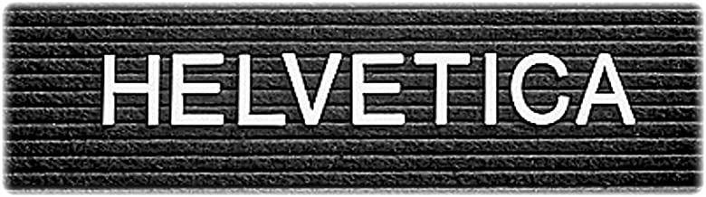 Quartet 1 Inch Characters for Plastic Letter Boards, Helvetica Font, 144 Characters per Set, White (F1)