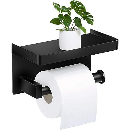 Toilettenpapierhalter Klopapierhalter m.Ablage Befestigungsset