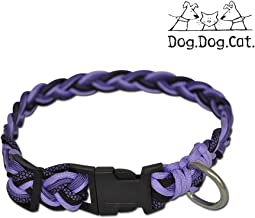 purple paracord dog collar
