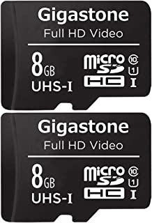 Gigastone 8GB 2-Pack Micro SD Card, FHD Video, Surveillance Security Cam Action Camera Drone Professional, 80MB/s Micro SD...