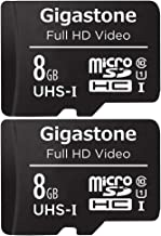 Gigastone 8GB 2-Pack Micro SD Card, FHD Video, Surveillance Security Cam Action Camera Drone Professional, 90MB/s Micro SDXC UHS-I U1 Class 10
