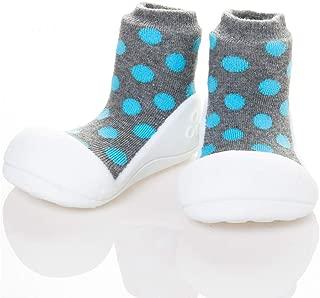 Attipas Polka Dot Baby Walker Shoes, Grey, X-Large