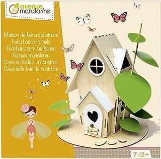 Avenue Mandarine Wooden Fairy House to Build Creative Box Set (Ages 6-10+)