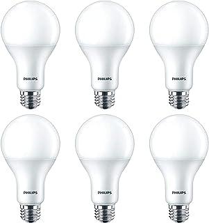 Philips LED Dimmable A21 Light Bulb with Warm Glow Effect 1600-Lumen, 2200-2700 Kelvin, 16 (100-Watt Equivalent), E26 Base...