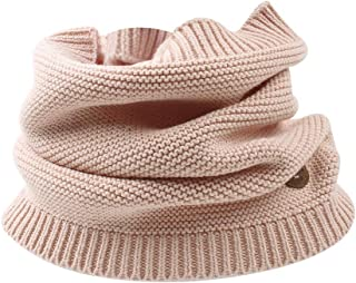 Kids Winter Scarf Knitted Warm Toddler Infinity Scarf Soft Chunky Neck Warmer for Boys Girls