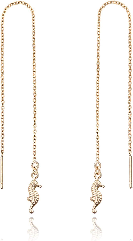 MaeMae 14k Gold Filled Dainty Max 62% OFF Earrings Threader Arlington Mall Chain 5