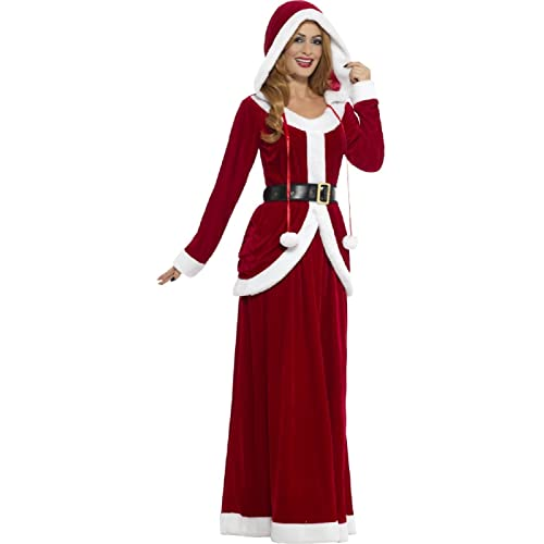 95aa7a5d0fc8b Ladies Deluxe Mrs Claus Christmas Xmas Festive Fun Noel Fancy Dress Costume  Outfit UK 8-