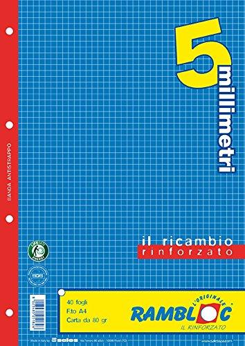 Ricambio rinforzato Rambloc Pacco da 4 Ricambi A4 5mm. (160 fogli totali)
