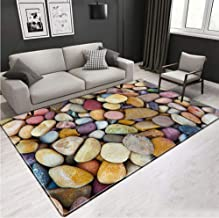 Living Room Rug Large 3D Stone Printed Thicken Carpet Washable Anti-Slip Home Entrance Hall Room Decor Cosiness Carpet 100...