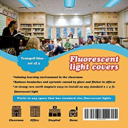 Best Fluorescent Light Covers for Classroom Use - Tranquil Blue