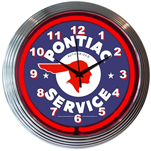 Neonetics Cars and Motorcycles Pontiac Service Neon Wall Clock