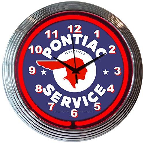 GM Pontiac Service Neon Uhr