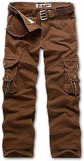 メンズ ワークパンツ 無地 作業着 ミリタリー カーゴ パンツ チノパン ズボン 大きいサイズ ロングパンツ