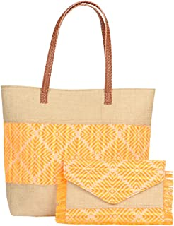 STRIPES Orange Women Tote Bags