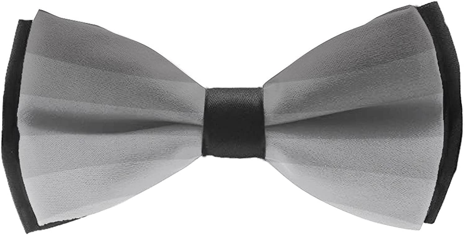 Pre-Tied Bow Tie for Formal Party Classic Cravat Neck Tie For Adults & Children