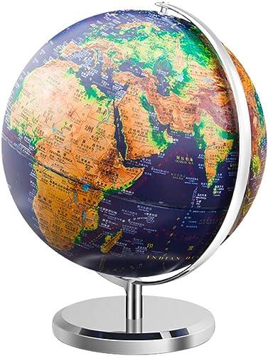 HAOLIN Globe Terrestre rougeation à 360 ° Globe Constellation (Dia 32cm) Educatif Géographique Moderne Décoration De Bureau - pour étudiants Enfants