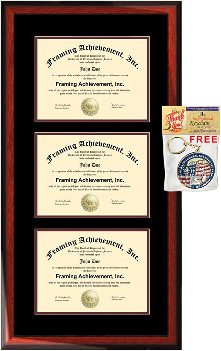 Max 46% OFF University Diploma Frame Three Certificate Triple Sale price College Holder