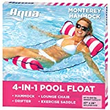 aqua leisure 4-in-1 multi-purpose monterey hammock (saddle, lounge chair, hammock, and drifter),