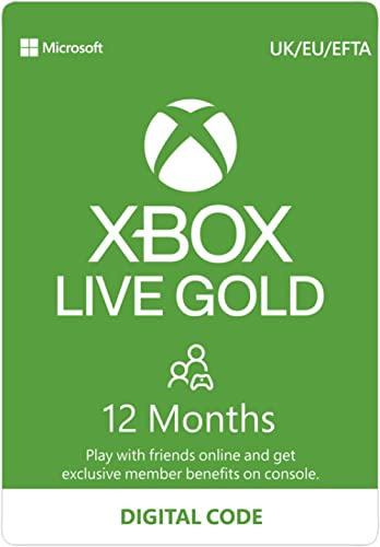 Xbox Live Gold – 12- MonthMembership[Digital Download Code]
