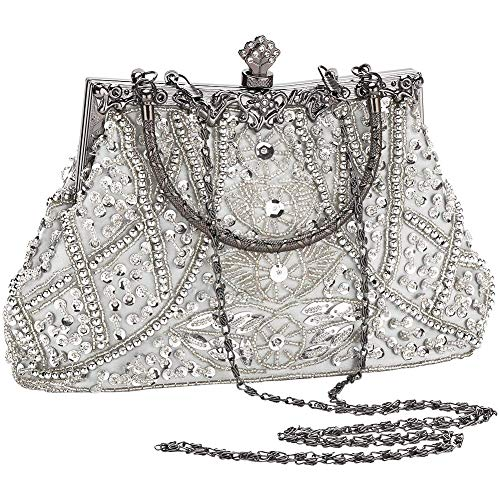 Mini Size:Strap Length: Approximate 14cm(5.51inch) Width: Approximate 17cm (6.69inch)(Widest) Height: Approximate 14cm(5.51inch)(Due to manual measurement,Error 1-2CM within the normal range) Color: Three Color Available: Silver / Gold / Black