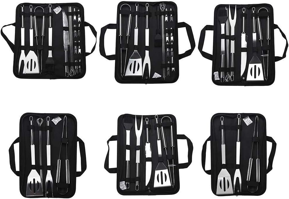 Tolyneil Kit d'outils de barbecue en acier inoxydable Lot de 9 pièces. Lot de 9 pièces.