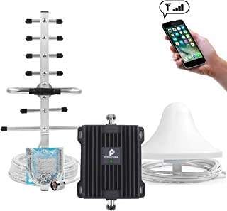 Cell Phone Signal Booster for Home & Office - Boost Verizon AT&T Sprint T-Mobile GSM 3G Voice Signal by Dual Band 2/5 850/1900MHz Cellular Repeater Amplifier Kit and High Gain Ceiling/Yagi Antennas