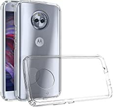 Android One Moto X4 Case, Moto X4 2017 Case,Yiakeng Dual Layer Shockproof Wallet Armor Soft Glitter Silicone Crystal Phone Cases Full Cover for Motorola Moto X4 (Clear)