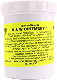 Amish Burn Salve Cream Ointment For Healing Wounds, Scars, And Burns - Made with Beeswax and Aloe Vera - 8oz