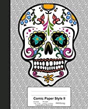 Comic Paper Style II: Colorful Mexican Sugar Skull Book (Weezag Comic Paper Style II Notebook)