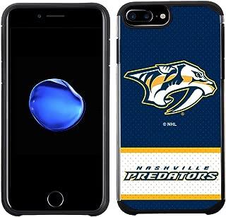 Apple iPhone 8 Plus/iPhone 7 Plus/iPhone 6s Plus/iPhone 6 Plus - NHL Licensed Nashville Predators Blue Jersey Textured Back Cover on Black TPU Skin