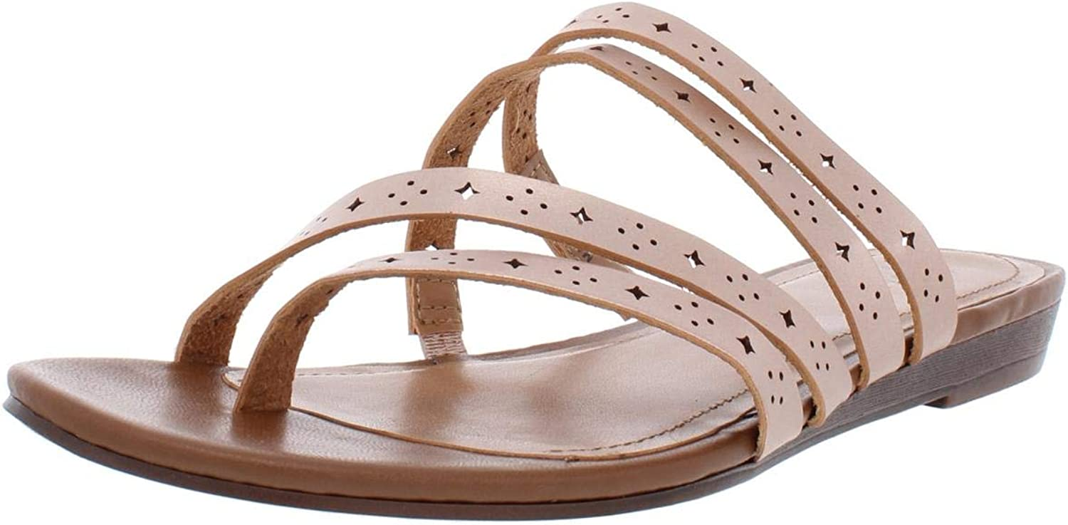 Style & Co. Womens Barrees Faux Leather Strappy Flat Sandals