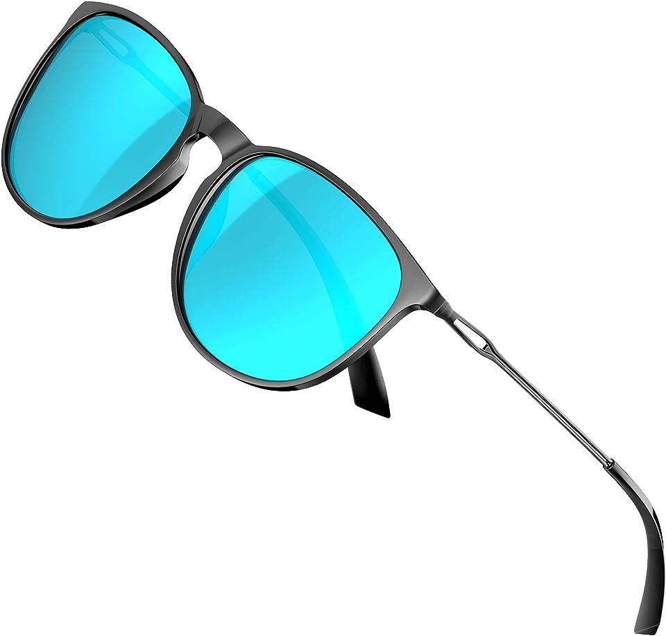 Sonnenbrille Damen - Vintage Polarisierte Ultraleicht UV-Schutz Verspiegelt Sonnenbrillen
