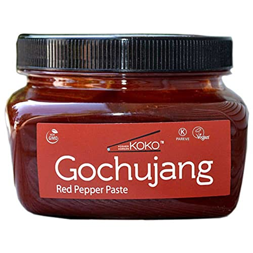 Koko Gochujang (Fermented Hot Pepper Paste) 15.8oz(450g) - Certified Kosher Gochujang - Premium Gluten-free 100% Korean all Natural