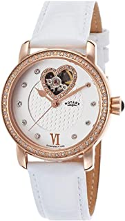 Ladies Rotary Automatic Watch with Black dial Analogue Display Leather LS00103/06