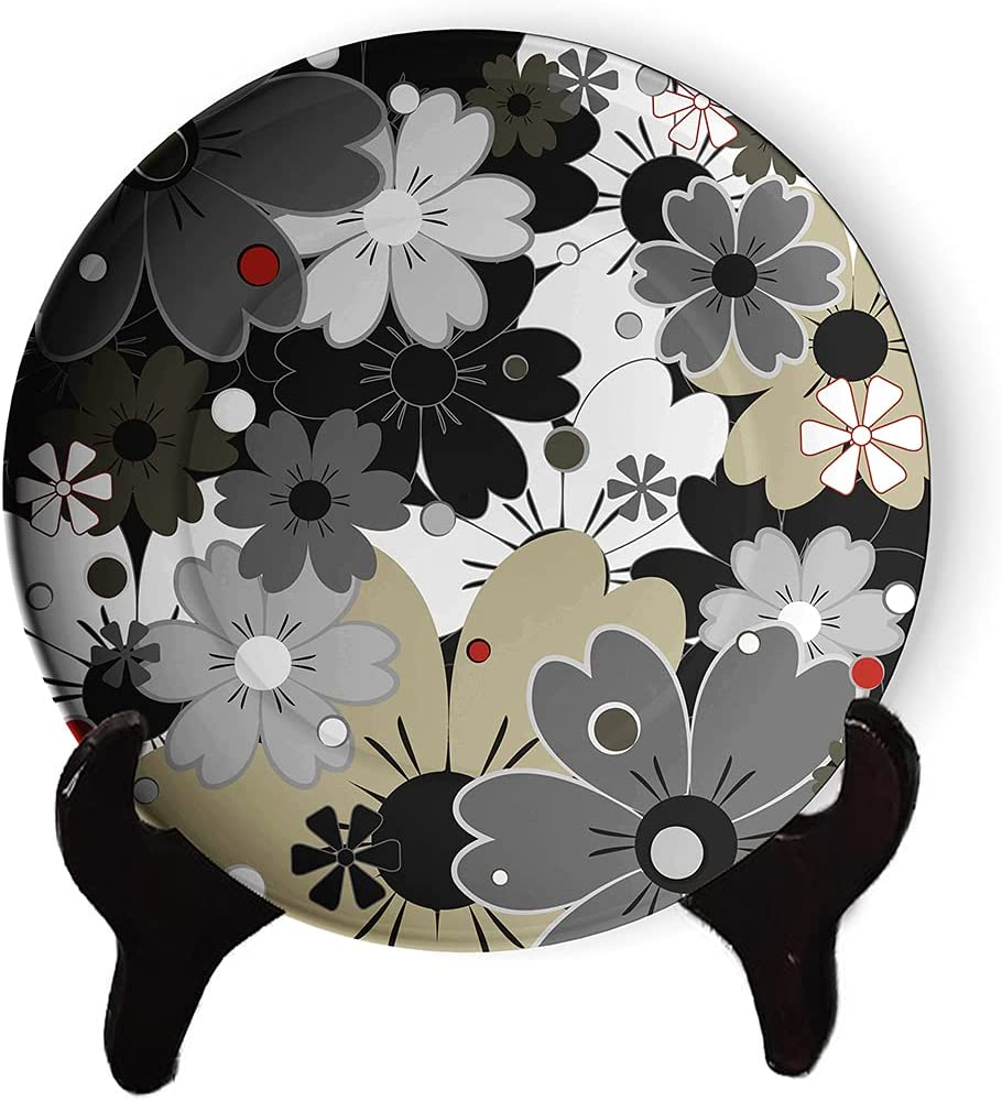 Classic Year-end Ranking TOP13 annual account Vintage Flower Pattern Plate Orie Decorative Personality