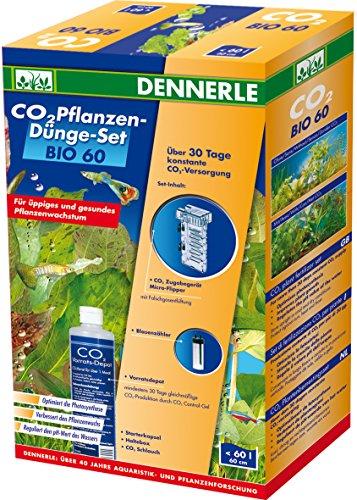Dennerle 3008 Bio 60 Komplett-Set | Bio-C02 Düngeanlage für Aquarien bis 60 Liter | mit Blasenzähler und Flipper